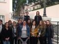 Devant le palais de la residence de la republique portugaise